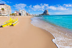 Calpe playa Arenal Bol beach  Alicante Royalty Free Stock Image