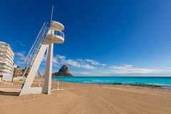 Calpe playa Arenal Bol beach Alicante Stock Photos