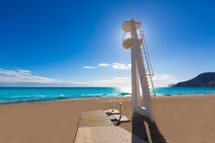 Calpe playa Arenal Bol beach  Alicante Royalty Free Stock Images