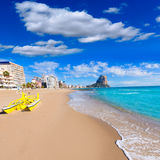 Calpe playa Arenal Bol beach  Alicante Royalty Free Stock Photography