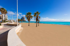 Calpe playa Arenal Bol beach  Alicante Stock Photo
