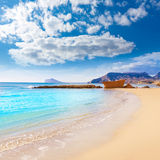 Calpe playa Cantal Roig beach  Alicante Royalty Free Stock Photos