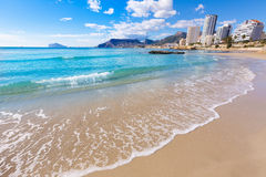 Calpe playa Cantal Roig beach  Alicante Royalty Free Stock Images