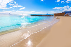 Calpe playa Cantal Roig beach Alicante Stock Photos