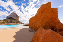 Calpe playa Cantal Roig beach  Alicante Stock Images