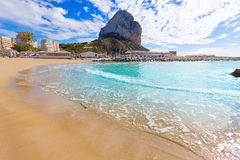 Calpe playa Cantal Roig beach  Alicante Royalty Free Stock Image