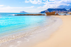 Calpe playa Cantal Roig beach Alicante Royalty Free Stock Photography
