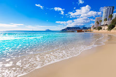 Calpe playa Cantal Roig beach Alicante Stock Photography