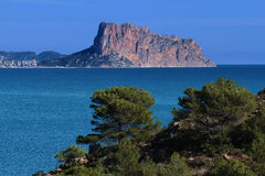 Calpe rock Royalty Free Stock Photos