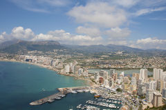 Calpe seen from rock of Ifach Stock Photos
