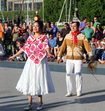 Calpulli墨西哥舞蹈团 库存图片