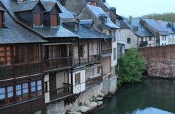 Calquieres, Espalion, l'Aveyron (Frances) Images stock