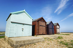 Calshot Beach Huts Stock Photo