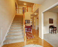 Calssic entry way with stairs. Stock Photo