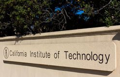 Caltech Entrance Sign. PASADENA, CA/USA - October 1: Entrance Sign on campus of the California Institute of Technology. Caltech is a research university in Stock Image