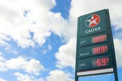 Caltex 1936 est une marque de pétrole de Chevron Corporation utilisée dans plus de 60 pays Images stock