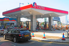 Caltex gas station in hong kong Stock Photo