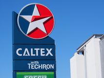 CALTEX logo Zdjęcia Stock