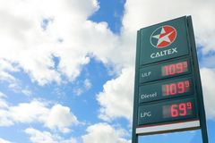 Caltex 1936 is a petroleum brand name of Chevron Corporation used in more than 60 countries Stock Images
