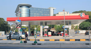Caltex petroleum station stock image