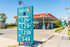 Caltex service station in suburban Melbourne, Australia Royalty Free Stock Image