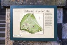 Calton小山在爱丁堡 免版税库存图片
