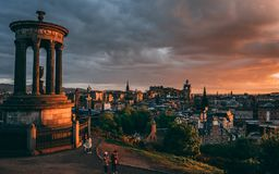 Calton Hügel, Edinburgh lizenzfreie stockfotos