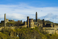 Calton Hill. In Edinburgh, Scotland Royalty Free Stock Photo