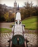 Calton Hill Cannon Royalty Free Stock Images
