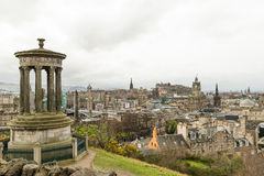 Calton Hill in cloudy day. View from Calton Hill in cloudy day Royalty Free Stock Photos