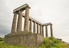 Calton Hill, Edinburgh. The National Monument, Calton Hill, Edinburgh Stock Image