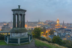 Calton Hill of Edinburgh Stock Photos