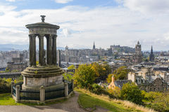 Calton Hill of Edinburgh in Autumn Royalty Free Stock Photo