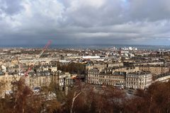 From Calton Hill, Edinburgh looking towards Leith Royalty Free Stock Photo