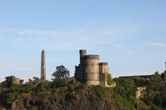 Calton Hill in Edinburgh. Political martyrs' monument. View of Calton Hill, Lothian, Edinburgh, UK Royalty Free Stock Image
