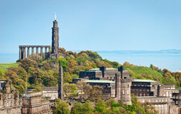Calton Hill at Edinburgh, Scotland Royalty Free Stock Image