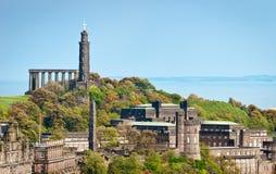 Calton Hill at Edinburgh, Scotland Royalty Free Stock Image