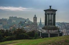 Calton Hill in Edinburgh, Scotland Stock Image