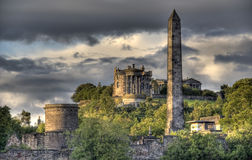 Calton Hill in Edinburgh, UK Stock Photos