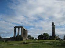 Calton Hill Edinburgh, UK. Calton Hill in Edinburgh, Scotland, UK on a sunny summer day Royalty Free Stock Photography
