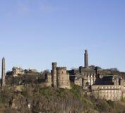 Calton Hill - Edinburgh. View of Calton Hill from South Bridge, Edinburgh Royalty Free Stock Image