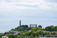 Calton Hill with St. Andrew`s house in Edinburgh royalty free stock photography
