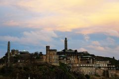 Calton Hill at Sunset Stock Photography