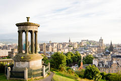 Calton Hill, the top of Edinburgh city. The nice place to see the Edinburgh city Stock Images