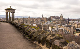 Calton Hill, view of Edimburgh Stock Image