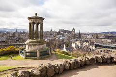 Calton Hill, view of Edimburgh Stock Photo