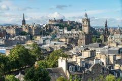 Calton Hill with a view on Edinburgh, Scotland stock photography