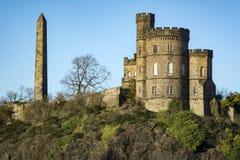 Calton wzgórze w środkowym Edynburg w Szkockim kapitale Fotografia Royalty Free