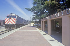 Caltran train in Cupertino, California Royalty Free Stock Photography
