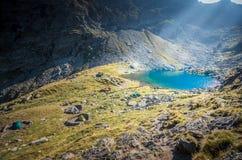 Caltun gleczeru jezioro Zdjęcia Royalty Free